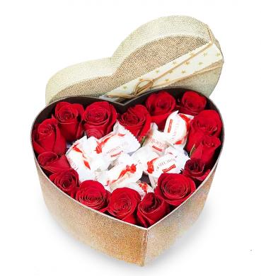 """Цветы в коробке """"Любовь моя"""""""