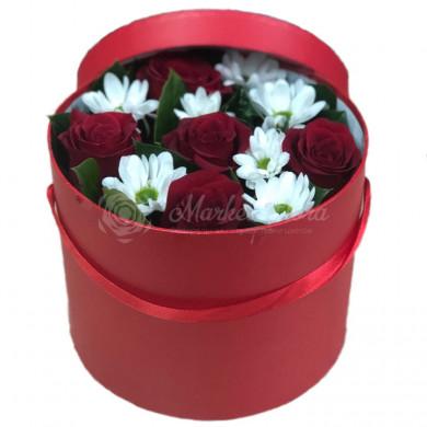 """Цветы в коробке """"Пылкая любовь"""""""