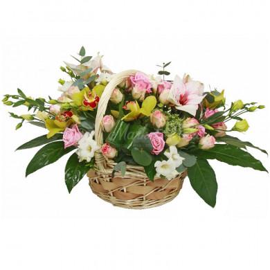 Корзина цветов «Серенада»